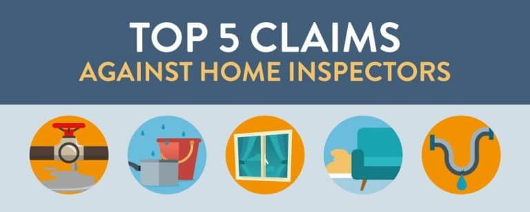 most common claims against home inspectors