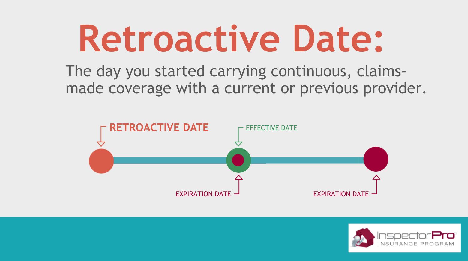 retroactive inspection insurance date