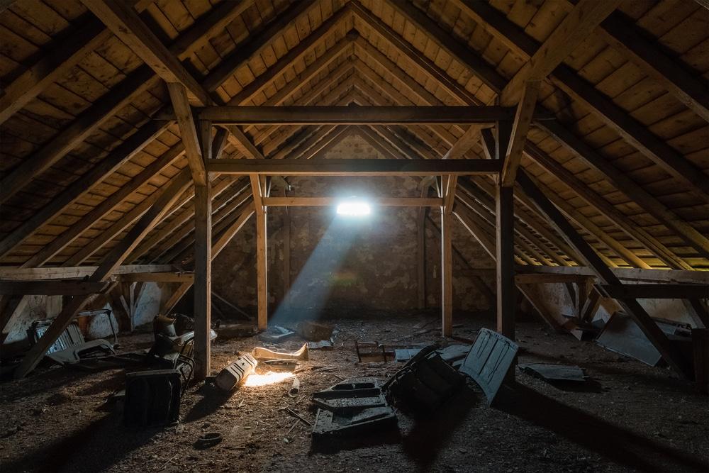 dark attic inspection safety
