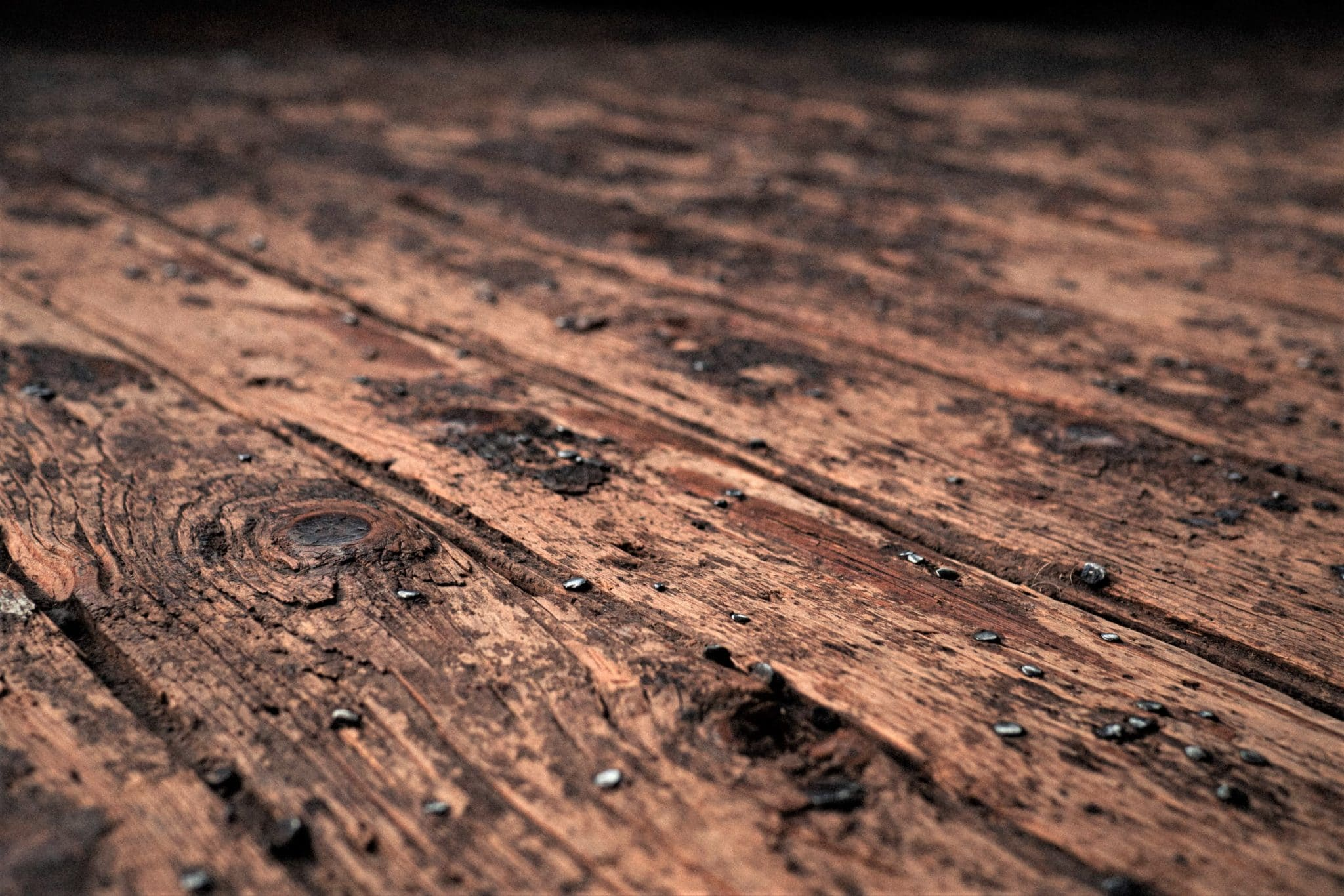 old floorboard, attic inspection safety