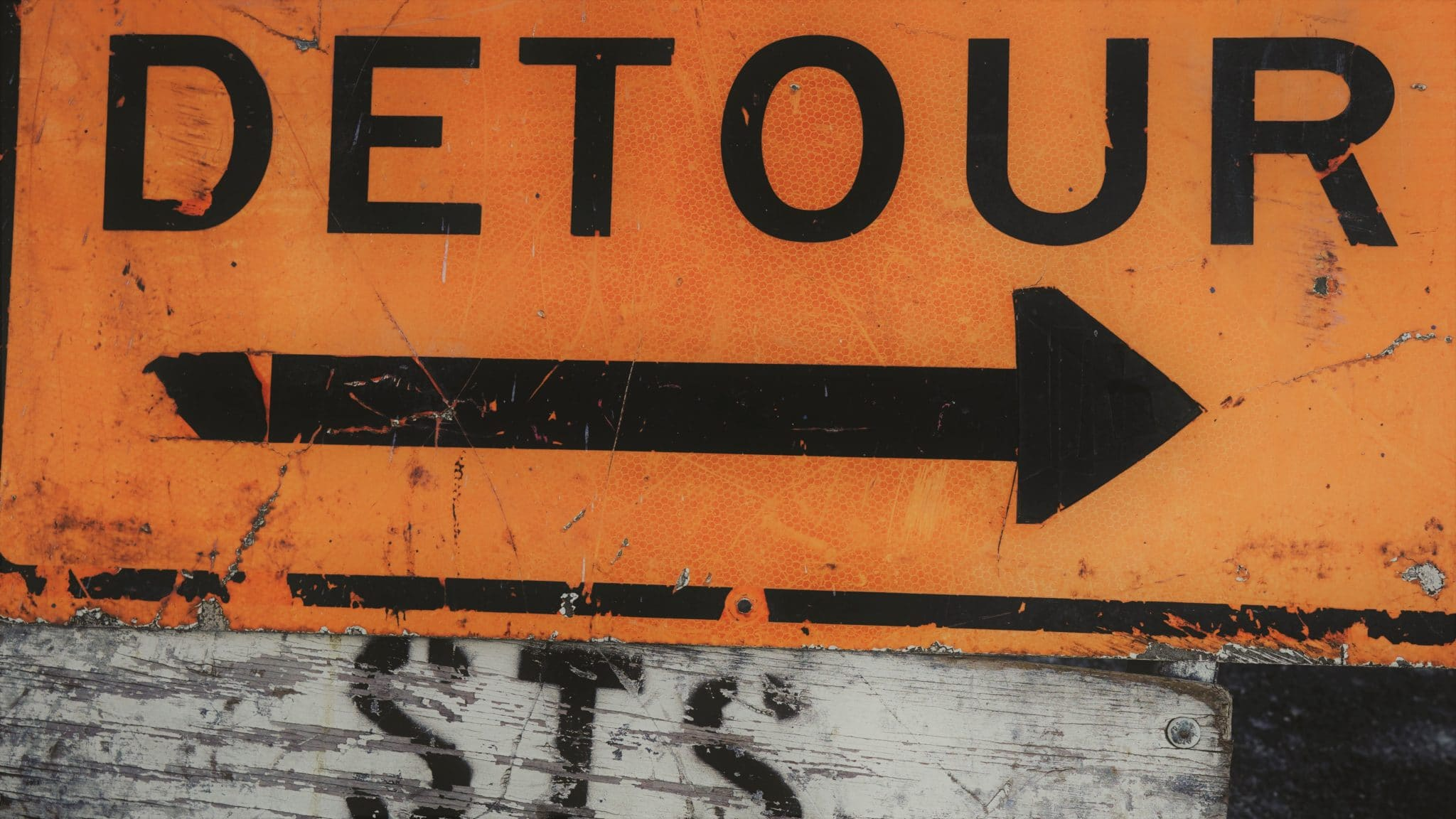 detour sign - when to walk away from an inspection
